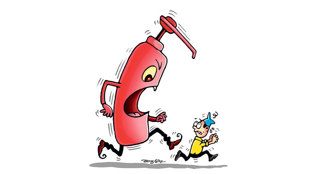 विषाक्त स्यानिटाइजर छ्यापछ्याप्ती