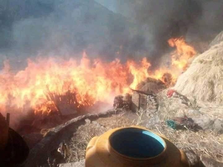 राँचुलीमा आग्लागी १२ वटा घर जलेर नष्ट