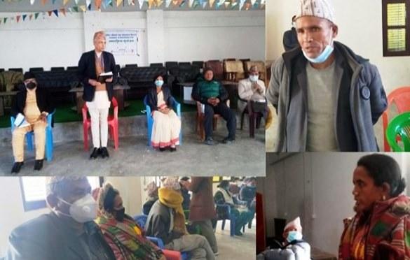 वेपता परिवारका कुरा सुन्न आयोगका अध्यक्ष  कालीकोट